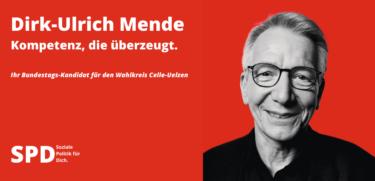 Dirk-Ulrich Mende mit rotem Hintergrund